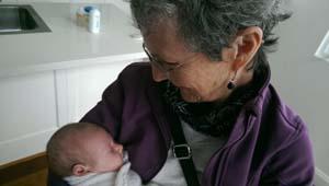 Ruth holds new born Pollyanna