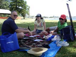 Kurnell picnic with Kelly and Adam